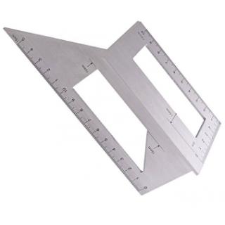 Инструменты измерительные для деревообработки: измерительная метрическая линейка Т-образной формы, 45 градусов,90 градусов,135 градусов
