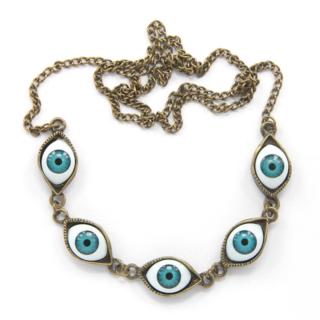护身符项链,与聚酯的插入450毫米,以保护其所有者从邪恶的眼睛/Ожерелье талисман, с вставками из полиэстера 450мм, для защиты своего обладателя от сглаза
